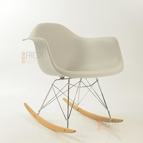 fauteuil bascule inspiration eames rar rocking chair gris clair achat vente fauteuil. Black Bedroom Furniture Sets. Home Design Ideas