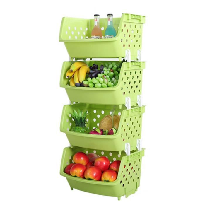 4pcs boite de rangement fruits et l gumes un seul pont cuisine polyvalente divers articles. Black Bedroom Furniture Sets. Home Design Ideas