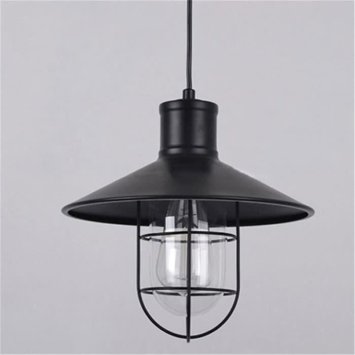 lampe suspension design lanterne m tal retro industriel 110 220v ampoules non inclus suspension. Black Bedroom Furniture Sets. Home Design Ideas