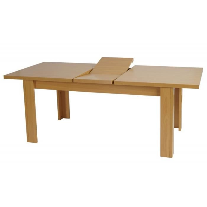 Table salle manger 160 180 cm h tre achat vente for Dimension table salle a manger