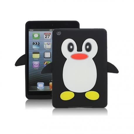 ipad mini coque pinguin noir prix pas cher cdiscount. Black Bedroom Furniture Sets. Home Design Ideas