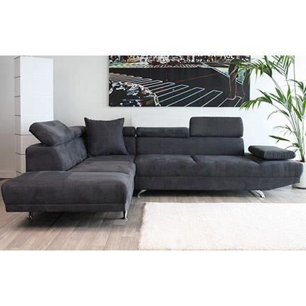 canap d 39 angle gauche 3 places en microfibre achat vente canap sofa divan soldes. Black Bedroom Furniture Sets. Home Design Ideas