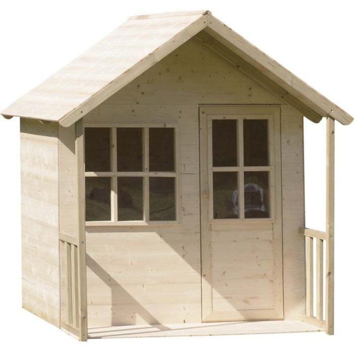 MAISONNETTE EXTÉRIEURE Maisonnette pour enfants en bois avec appenti Fore