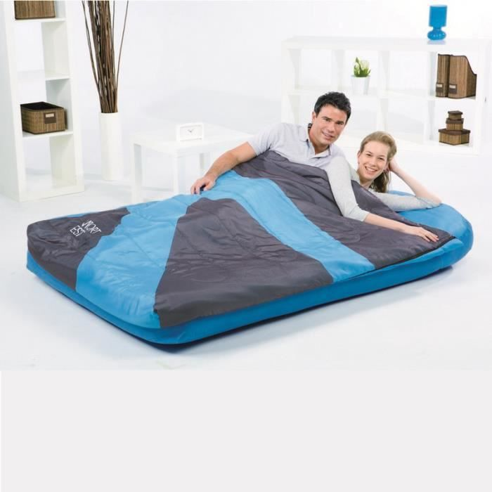 matelas sac de couchage int gr 2 personnes bestway bleu prix pas cher cdiscount. Black Bedroom Furniture Sets. Home Design Ideas