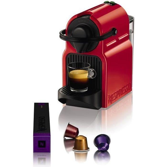 MACHINE À CAFÉ KRUPS NESPRESSO Inissia XN1005 - Rouge rubis
