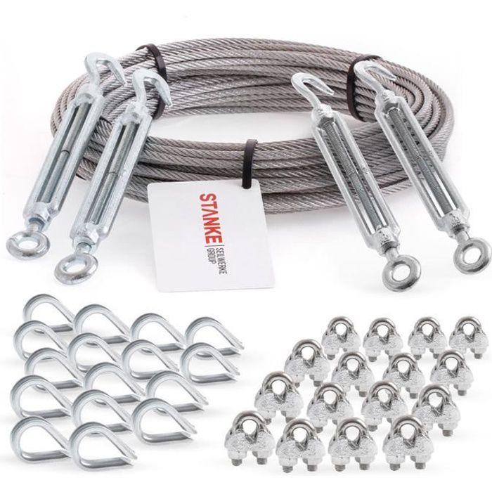 20 pc s câble acier inoxydable cosse coeur pour cable 2mm AISI 316