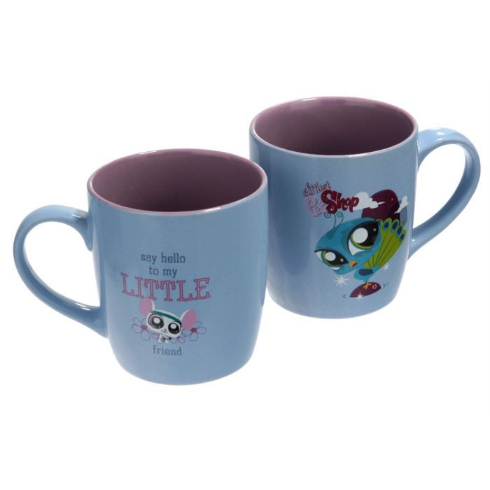 lot de 2 mugs petshop achat vente bol mug mazagran cdiscount. Black Bedroom Furniture Sets. Home Design Ideas