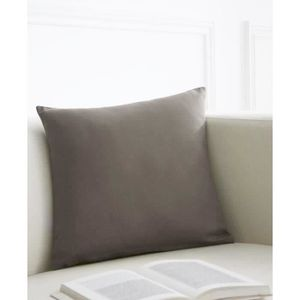 TODAY Coussin déhoussable 100% coton 40x40cm Mastic