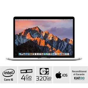 Vente PC Portable MACBOOK PRO 13 pouces Gris core i5 4 go ram 320 go HDD disque dur clavier AZERTY pas cher
