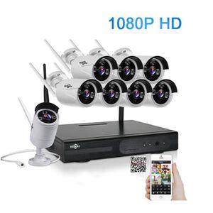 CAMÉRA DE SURVEILLANCE Hiseeu 2MP CCTV système 1080P HD 8CH caméra sans f