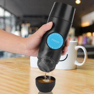 COMBINÉ EXPRESSO CAFETIÈRE Mini Chargable Machine à Café De Voiture En Poudre