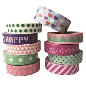 MASQUAGE - MASKING TAPE 10 Roll Washi Tape Masking tape colorful