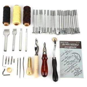 20PCS À faire soi-même Cuir Gravure Craft Stamping Tool Set Selle en cuir bois
