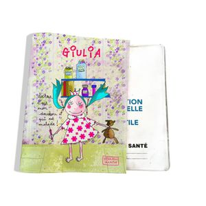 Prot/ège carnet de sant/é Mouton Princesse Animaux Fabrication Fran/çaise Porte /étui b/éb/é Enfants