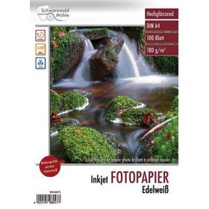 PAPIER PHOTO 100 feuilles papier photo brillant A4 - 180 G