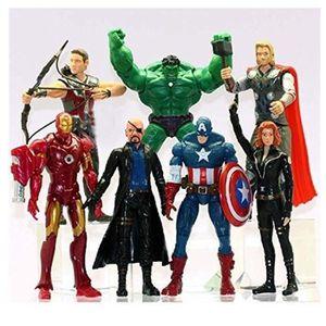 POUPÉE Poupées Marvel The Avengers 7 Figurines Cadeau d'a