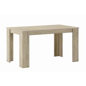 TABLE À MANGER SEULE Table à manger 140 cm, couleur chêne clair, mesure