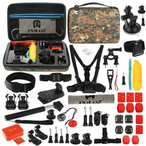PACK CAMERA SPORT Puluz 53-in-1 Sports Action Camera Kit d'accessoir