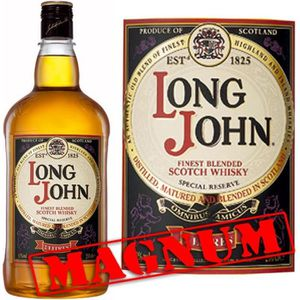 WHISKY BOURBON SCOTCH Long John 2L  Magnum 40°