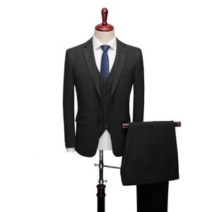 COSTUME - TAILLEUR JTONG Homme Costume 3 Pièces Rond Châle Revers Cou