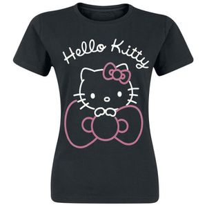 T-SHIRT Hello Kitty Ruban T-Shirt Manches courtes noir