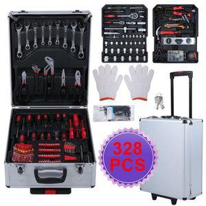 VALISETTE - MALLETTE Mallette à outils trolley 328 pièces valise boite