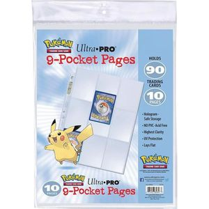 CARTE A COLLECTIONNER POKEMON - Lot de 10 Feuilles de classeur Pikachu -