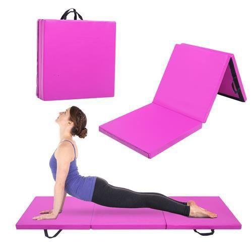 180x60x5cm Tapis de Gymnastique Epais - Matelas Gymnastique - Tapis Sol Gymnastique - Tapis Gymnastique Pliable Violet