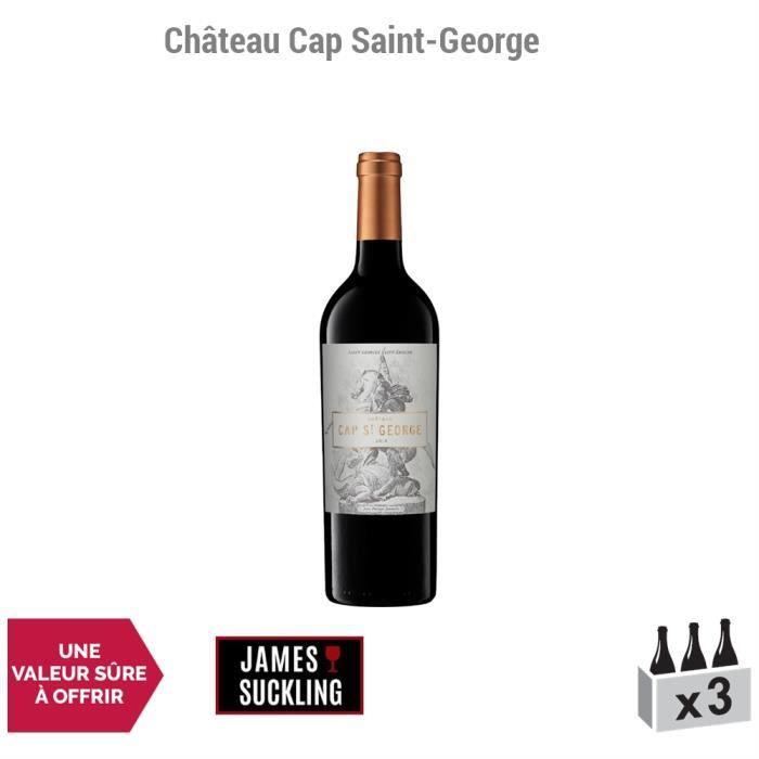 Château Cap Saint-George Rouge 2014 - Lot de 3x75cl - Appellation AOC Saint-Georges-Saint-Emilion - Vin Rouge de Bordeaux - 1*