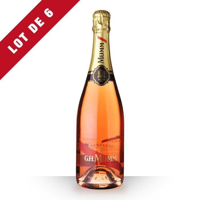 6X Mumm 75cl Brut Rosé - Champagne