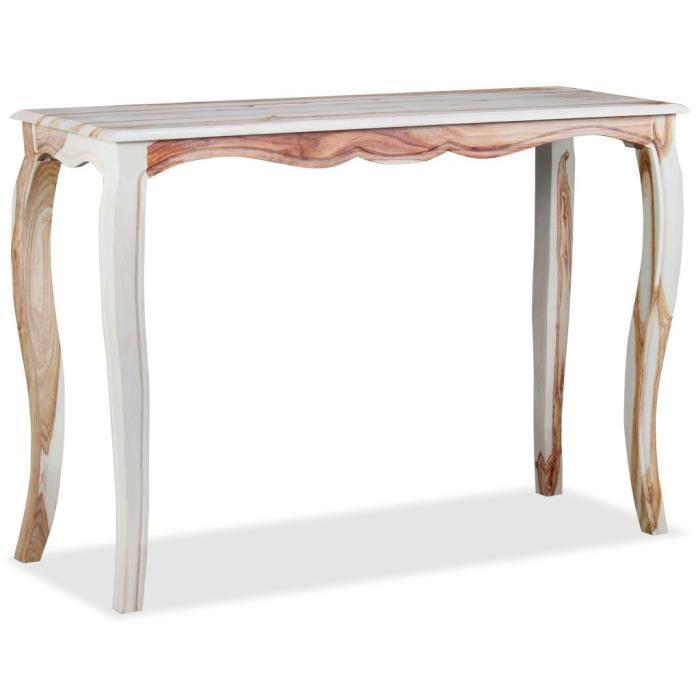 Table console Bureau Petit Bureau table d'entrée table d'appoint industriel Bois de Sesham massif 110 x 40 x 76 cm