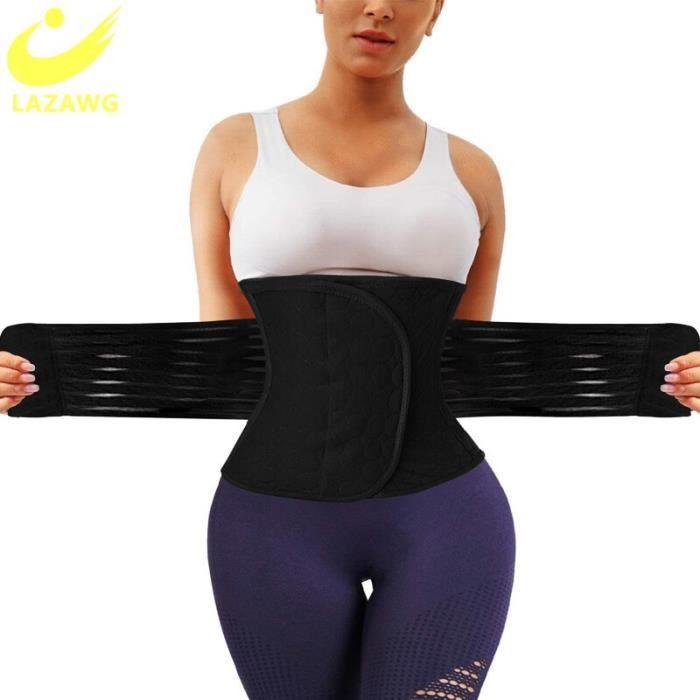 LAZAWG – ceinture amincissante post-partum pour femmes, Corset de soutien lombaire [E3904F6]