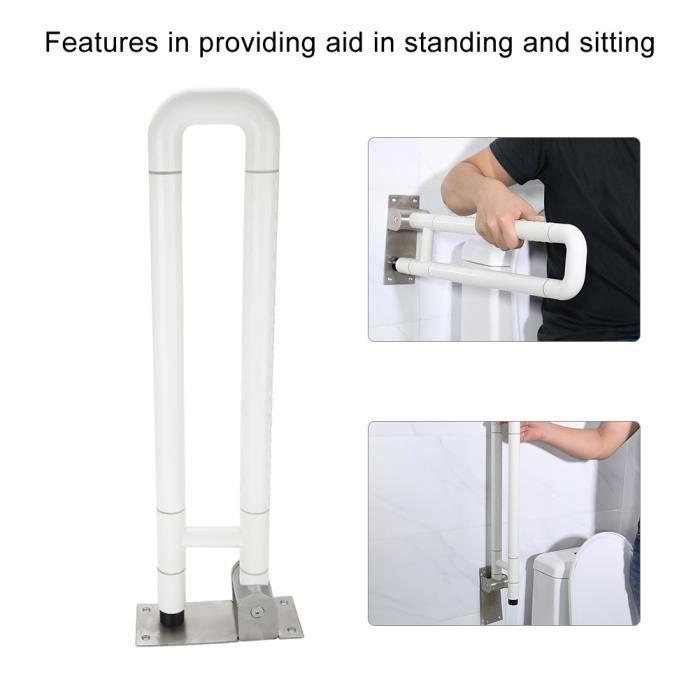 Barre d appui ,Double barre de sécurité pour salle de bain,Poignée d'aide de soutien de rail de sécurité de toilette rails