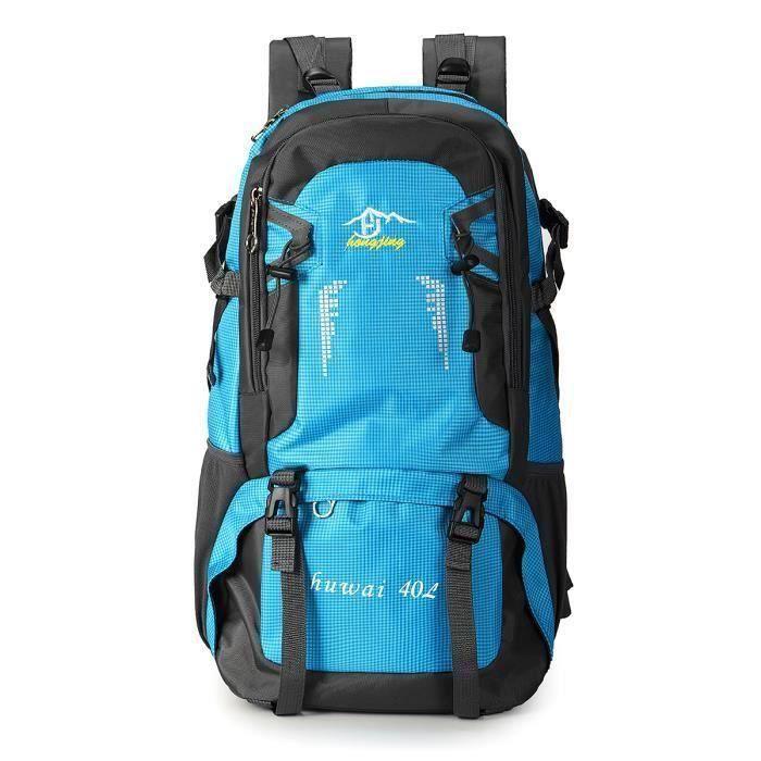 TEMPSA 40 L Etanche Sac à Dos Extérieur Confortable Nylon Large Escalade Randonnée Voyage Bleu