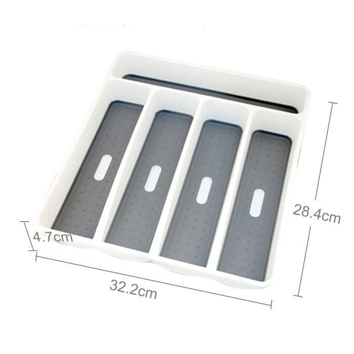 Plateau,Boîte de rangement, tiroir de cuisine, boîte de rangement, plateau à couverts ustensiles de table - Type 5 Sections