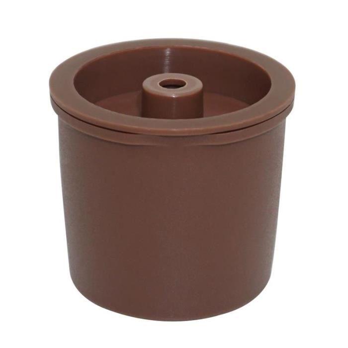 Petit déjeuner - Café,Capsules de café en plastique rechargeables multifonctionnelles pour le café de Machine de Illy - Type brown