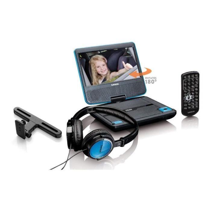 Lenco DVP-710 Lecteur DVD Portable Noir, Bleu 17,8 cm (7-) - Lecteurs DVD-Blu-Ray Portables (Lecteur DVD Portable, Noir, Bleu, CD