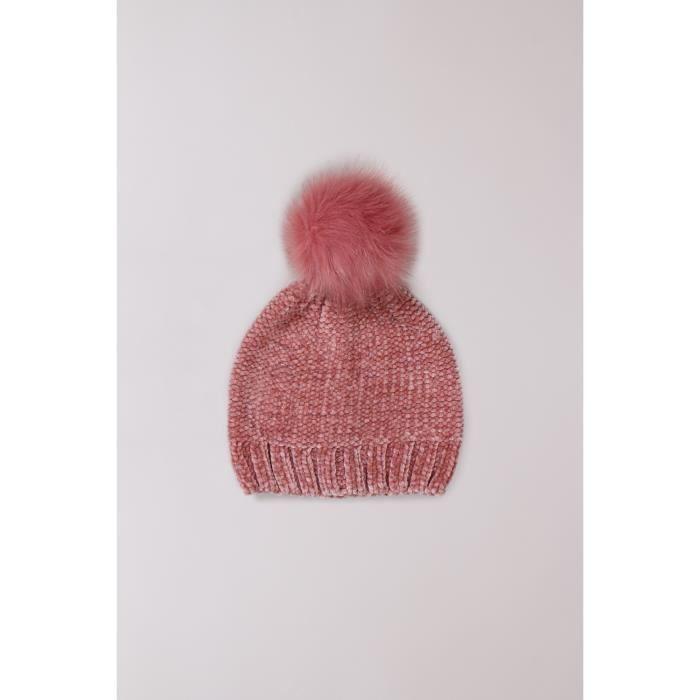 Bonnet à pompon VEGAS - Couleur - Old Pink Lurex, Taille - TU