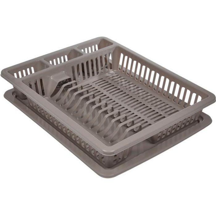 Egouttoir à vaisselle avec plateau Taupe