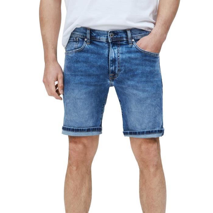 Bermuda Pepe Jeans Cane Bleu pour Homme
