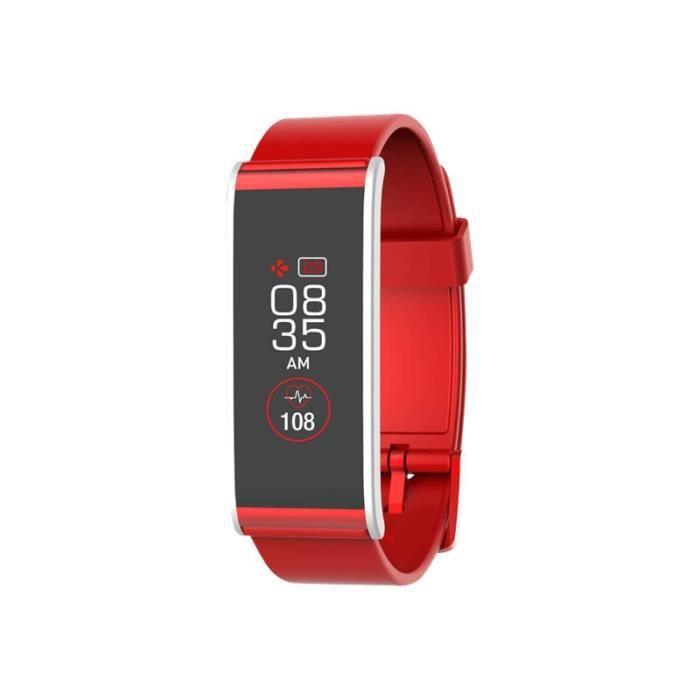 MyKronoz ZeFit4HR Argent suivi d'activités avec sangle rouge 155-222 mm 1.06- Bluetooth 17 g