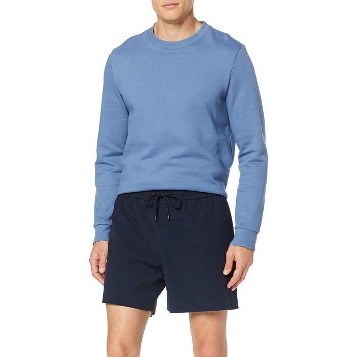New Look Seersucker Short, Bleu (Navy 41), W28 (Taille Fabricant: 50) Homme - 6119302-41