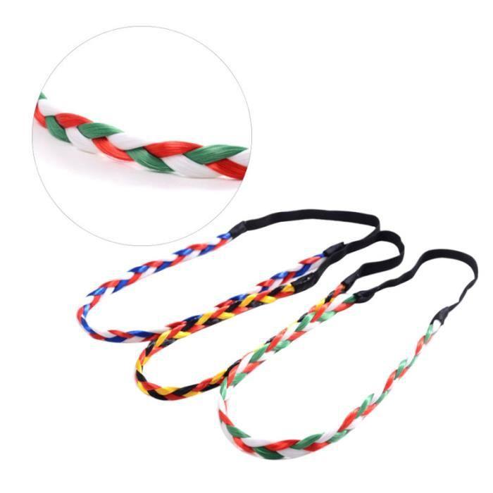 3 Pcs Tresses Bande De Mode Coloré Élastique Perruque Bandeau Accessoires pour Femmes COFFRET PRODUITS HYGIENE BEBE