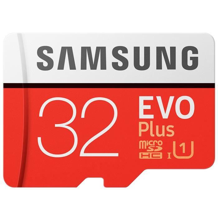 Samsung micro SD 32Go Class 10 Evo+ avec adaptate