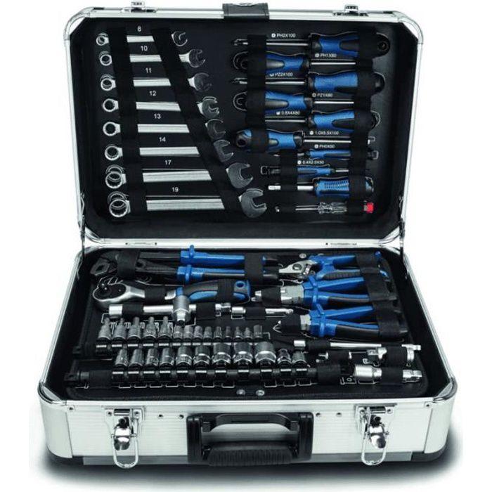 Scheppach Caisse a outil Valise métal de 101 outils en Chrome Vanadium TB150