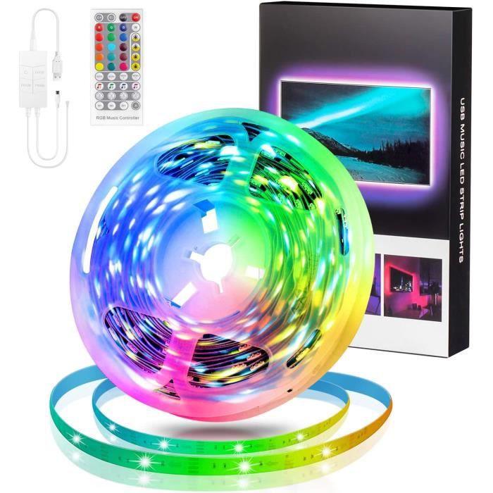 Stillcool® 5M Bande LED Lumières USB DIY RGB Changement de Couleur Musique sync 5050 Ruban 90LED avec Télécommande Décoration