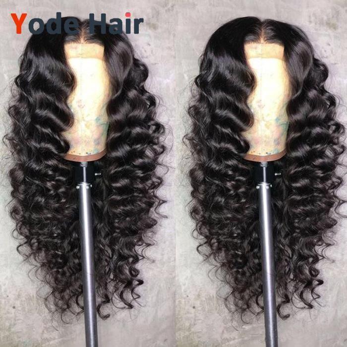 1 pièce naturelle vierge perruque perruques 180% densité natural wave lace front wigs 10pouces