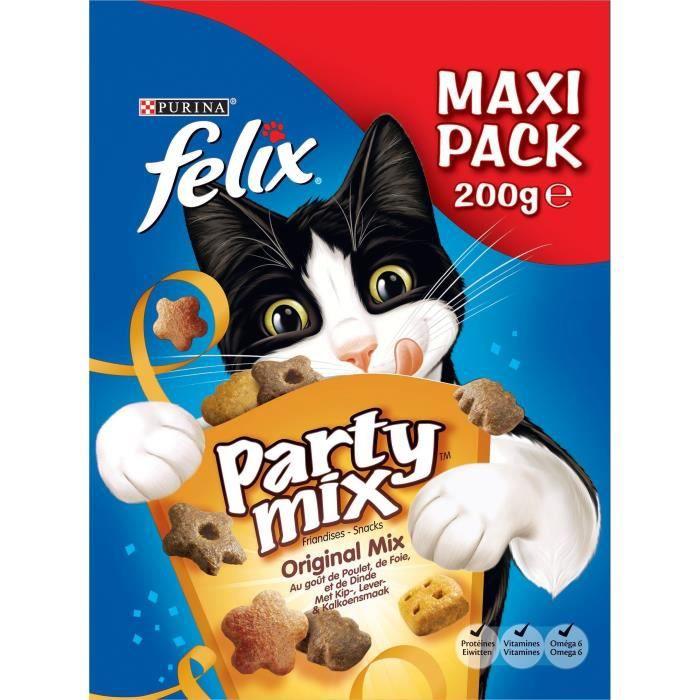 FELIX Party Mix - Original : poulet, foie et dinde - Pour chat - 200 g