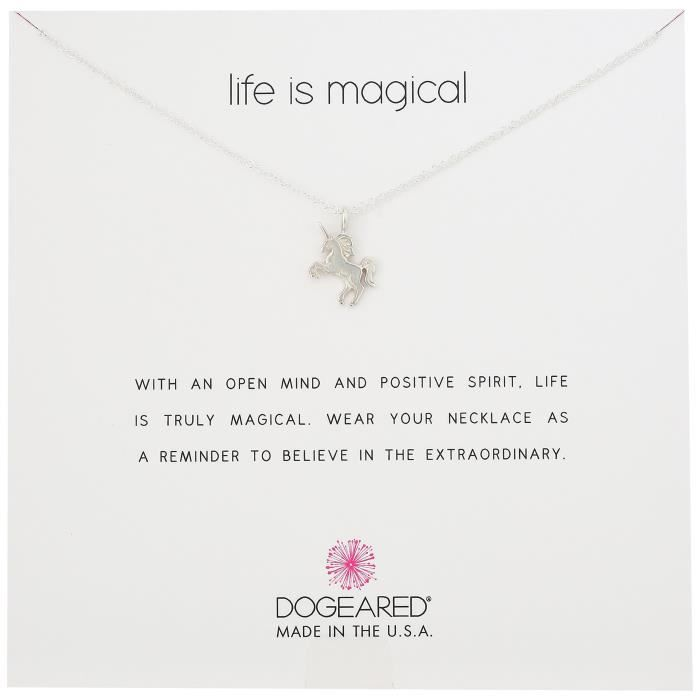 Dogeared Life Is Magical Unicorn Necklace, 16+2 Extender DP34Z