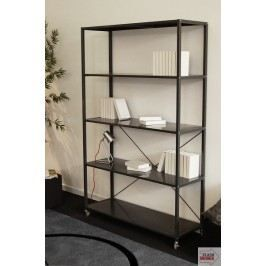 biblioth que mobile m tallique 5 tablettes ronny achat vente meuble tag re biblioth que. Black Bedroom Furniture Sets. Home Design Ideas